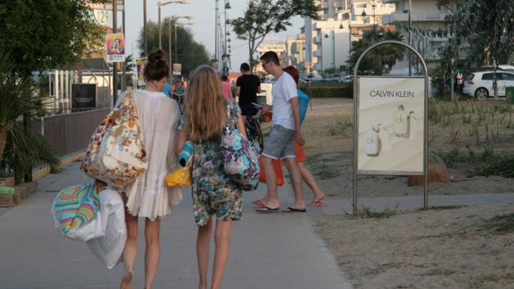 Affissione Spiaggia Rimini CK