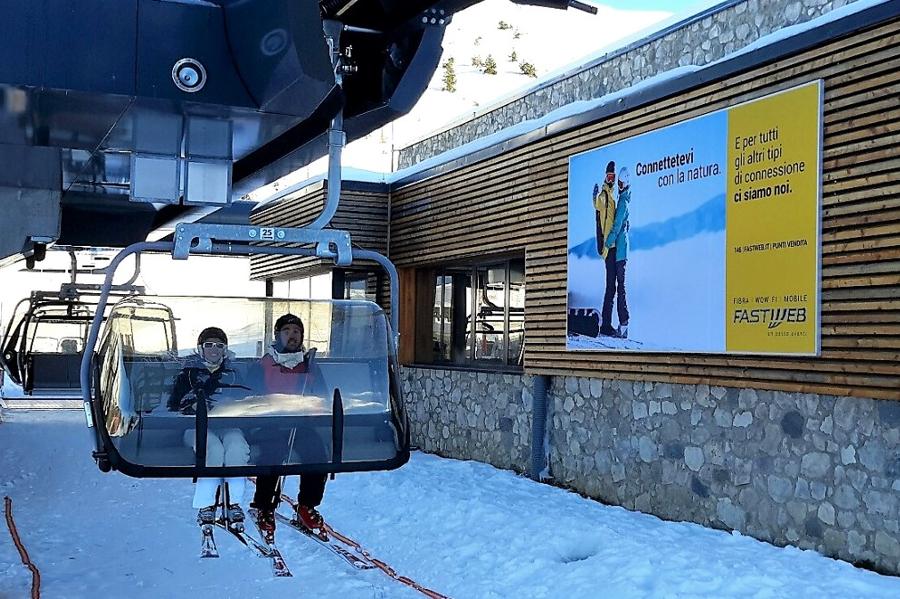 Affissione montagna Grande formato Fastweb