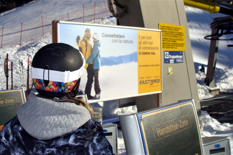 Affissione montagna Poster Fastweb
