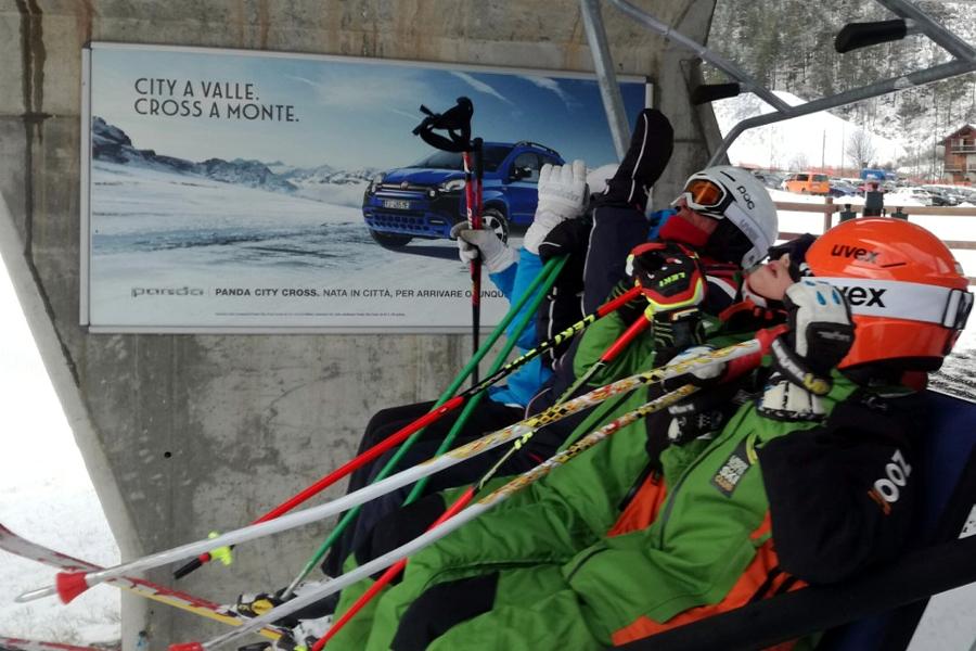 Affissione montagna Poster Fiat Panda